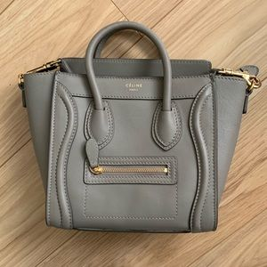 Celine nano grey smooth